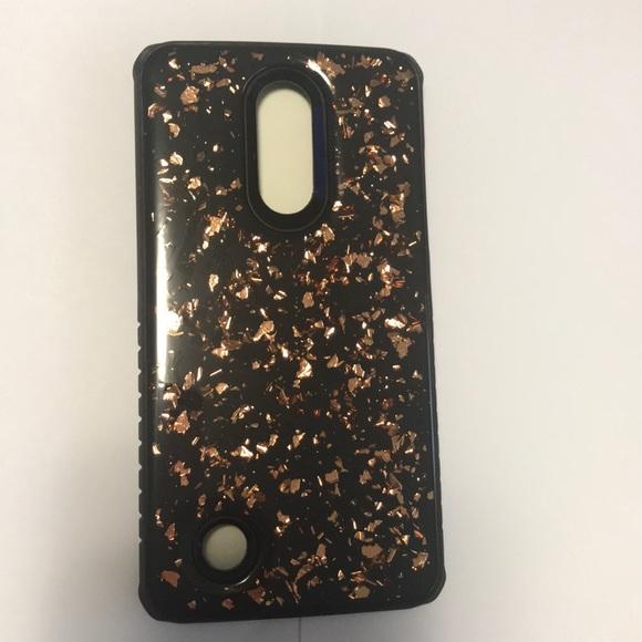 7077b829e73d LG Aristo 2 Hybrid Glitter sparkle case cover